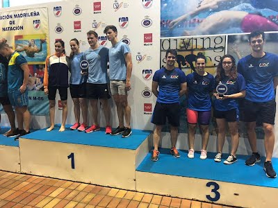Podio absoluto Club Natación Leganés